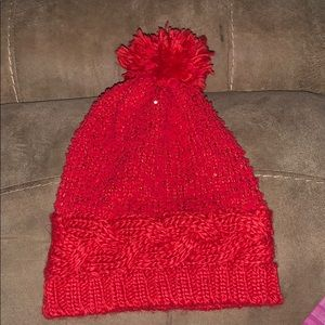 Red winter hat!